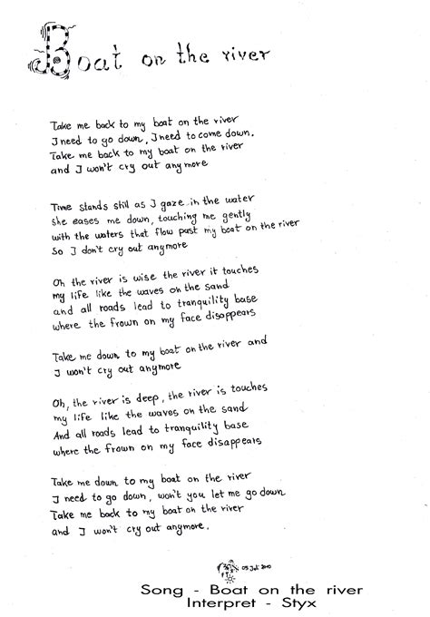 boat on the river lyrics the river songtext