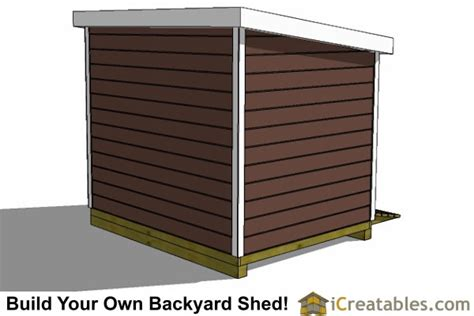 7 X 10 Shed Plans by 7x10 Lean To Shed Plans Storage Shed Plans Icreatables
