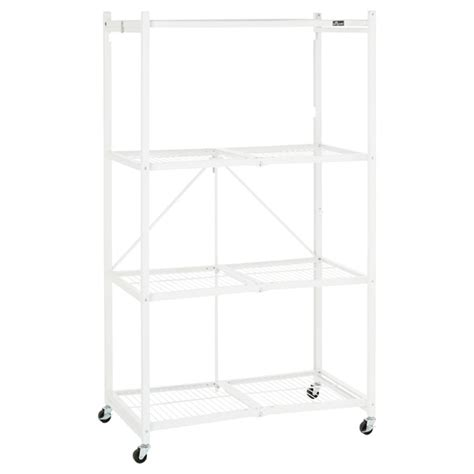 origami folding rack origami 4 shelf folding rack the container store