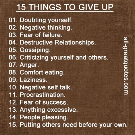 15 things to give up 1 doubting yourself picture quotes