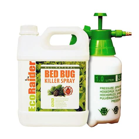 ecoraider bed bug killer ecoraider pest control 1 gal natural non toxic bed bug