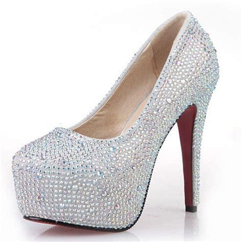 silver glitter high heel pumps new fashion 2013 s silver rhinestone prom pumps high