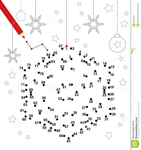 christmas dot game stock photos image 22805733