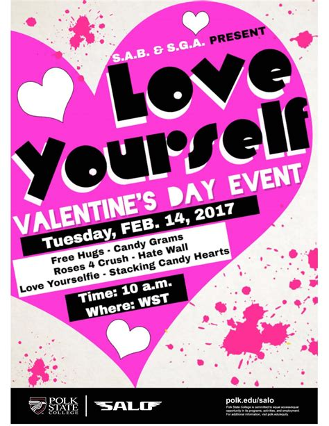 valentines day events polk state salo s a b s g a present quot yourself
