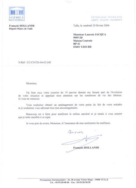 lettre de soutien personne malade peine vue sur la prison