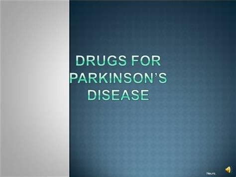 Drugs For Parkinson S Disease Narration Authorstream Parkinson S Disease Powerpoint Template