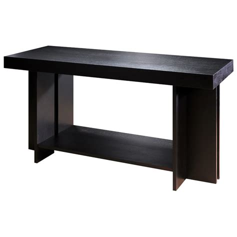 Espresso Console Table La Jolla Wood Console Table Espresso Rectangular Top Shelf Dcg Stores