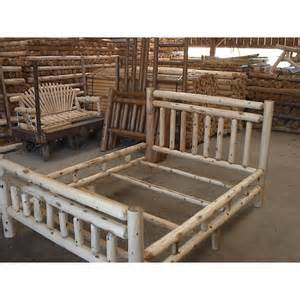 Log Bed Frames White Cedar Log Rustic Bed King