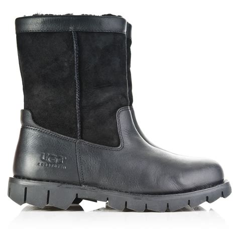 black leather ugg boots ugg ugg 174 black leather beacon men s boot ugg from daniel