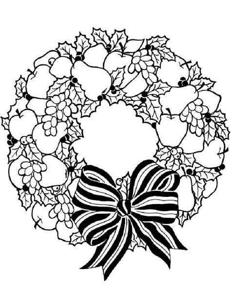 wreath coloring pages  printable wreath coloring pages