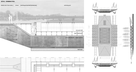 section of swimming pool archiprix central europe