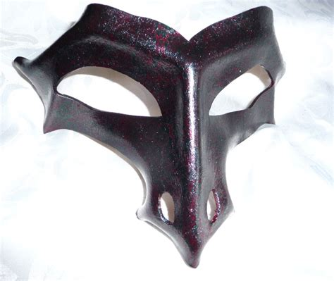 Handmade Leather Masks - genuine handmade leather half mask 1