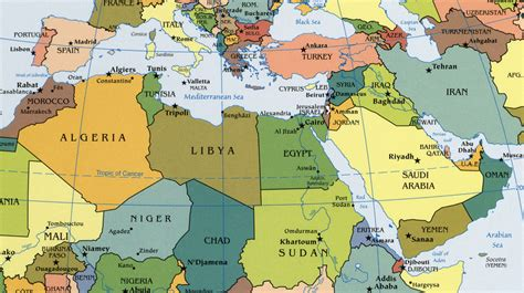 middle east map africa middle africa map quiz images