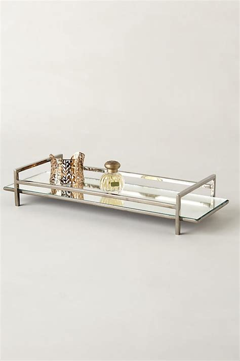 mirrored bathroom tray mirrored vanity tray anthropologie