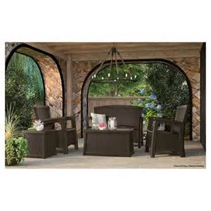 Suncast Patio Furniture by Suncast Elements Resin Patio Furniture With St Target
