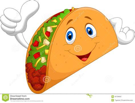 imagenes kawaii de tacos fumetto del taco che d 224 pollice su illustrazione