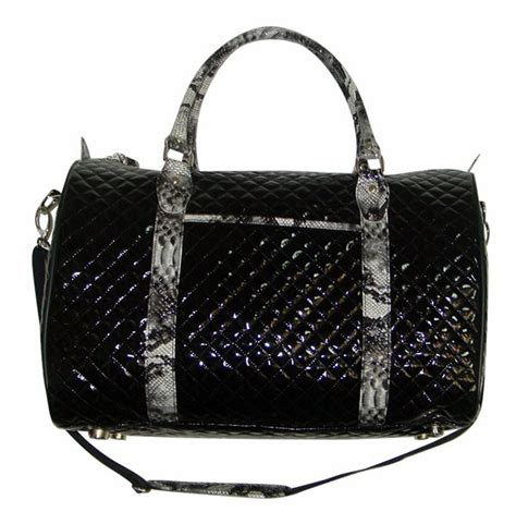 Quilted Carry On Suitcase From Outfitters by Black Patent Quilted Duffel Overnight Carry On Snake Skin