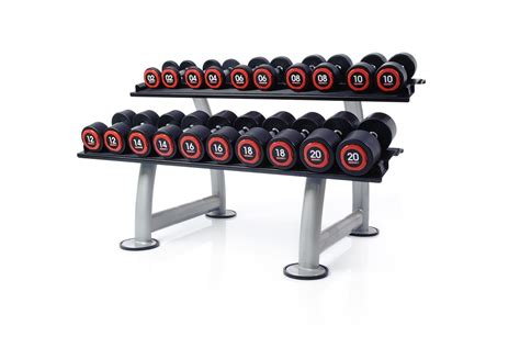 Rak Dumbbell urethane dumbbell sets racks escape fitness