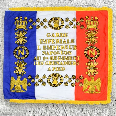 libro lme de napolon french napoleonic 1st regiment grenadier cotton flag w fringe atlantacutlery com