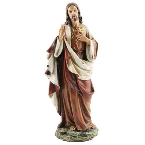 figure jesus sacred of jesus figure 10 25 inch the catholic