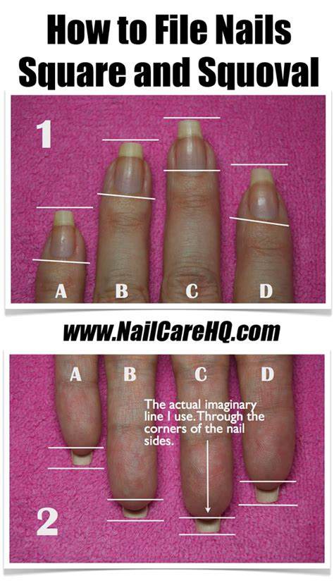 how to file nails ask how to file nails the square squoval shape nailcarehq