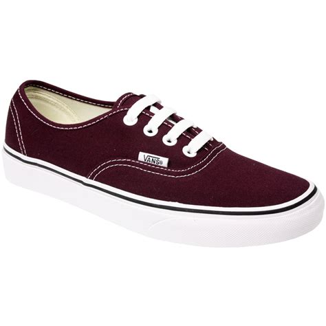 Authentic Maroon vans authentic hommes femme toile unisex skate baskets
