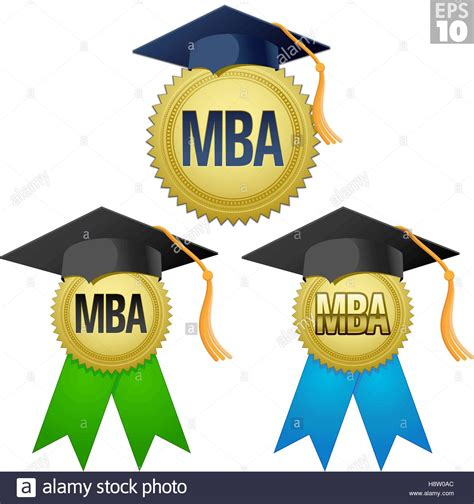 Graduation Hat Mba by Mba Graduate Seal Medal With Gold Seal Ribbon And