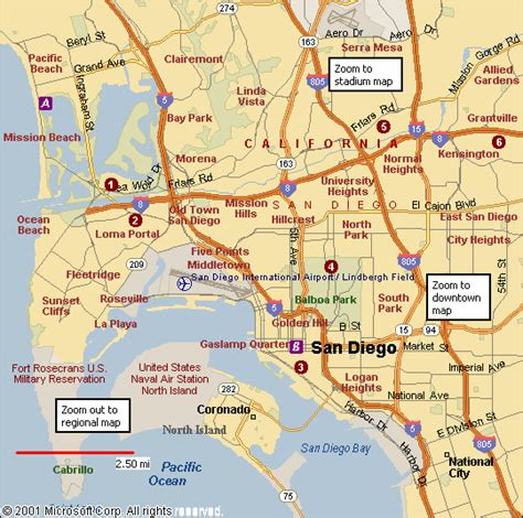 map of san diego ca san diego map free printable maps