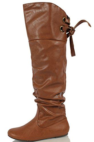 soda s letta slouchy leather the knee flat