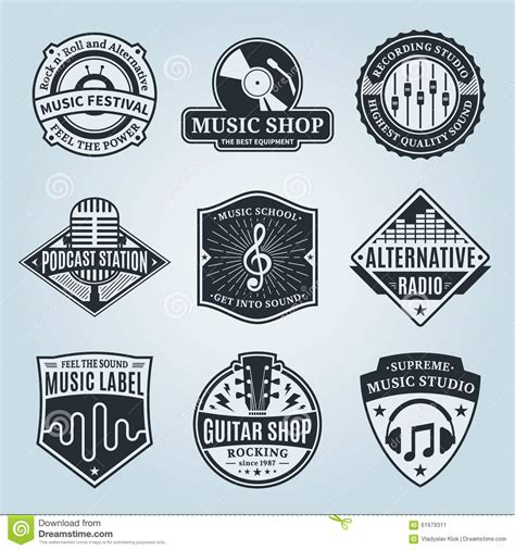 design logo label music logo vector illustration cartoondealer com 87844406