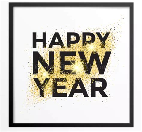 new year greeting gold gold glitter new year greeting card free