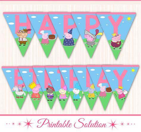 free printable birthday banner peppa pig peppa pig banner peppa pig birthday banner by