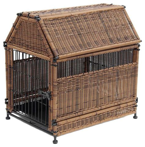 wicker dog house large honey wicker dog house roof top pet supplies by modern furniture warehouse