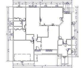 House Plans With Dimensions Single Floor House Plans House Floor Plan With Dimensions