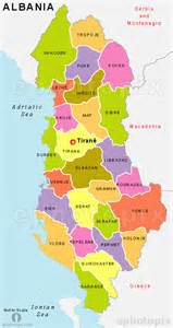 Albania Map In Europe by Albania State Map Albania Province Map