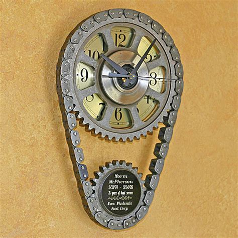 clock made of clocks green gifts clocks plaques awards trophies made from