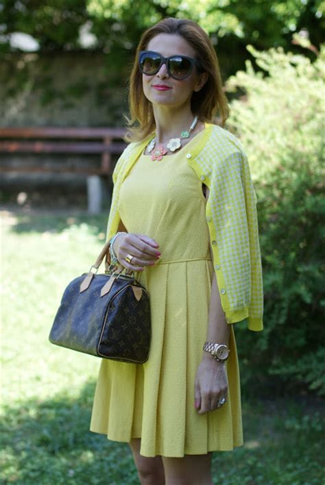 Lv 2in1 Set Zara Flower yellow dress and louis vuitton speedy 25 fashion and