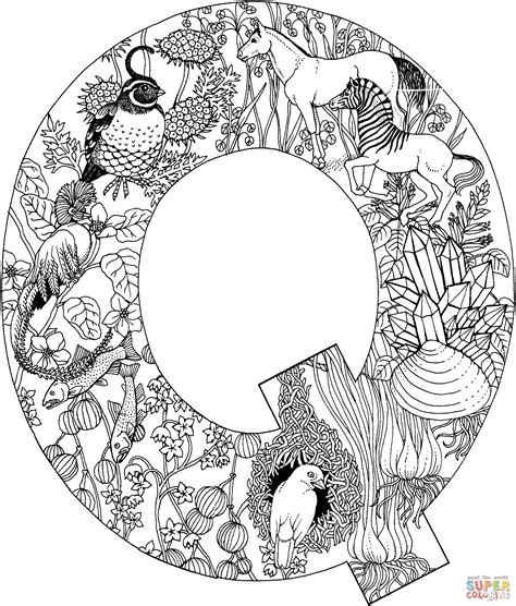 Free Printable Letter Q Coloring Pages by Coloring Pages Letter Q Az Coloring Pages