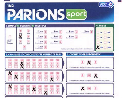 Grille Loto Foot Imprimer by Comment Remplir Un Ticket Parions Sport La R 233 Ponse Est