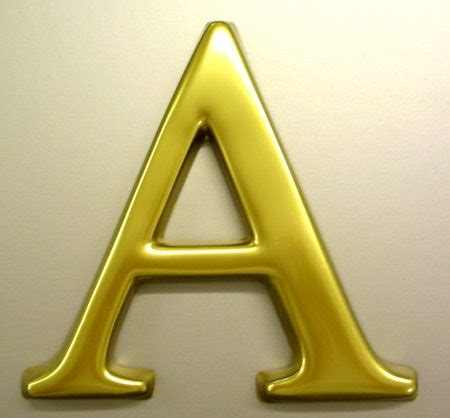 a letter letter a a sign makers