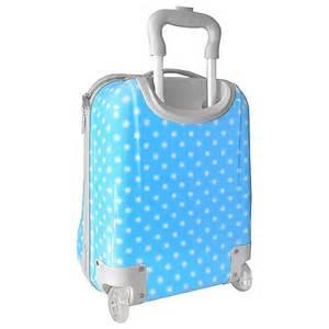 valise cabine bleu 224 pois pour enfant