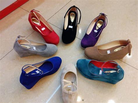 Sepatu Heels 7cm Tali sepatu wedges flat shoes boots heels