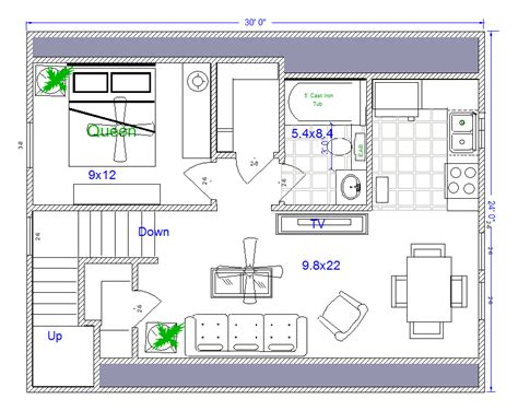 Mother In Law House Plans Mother In Law Quarters Or 24x30 House Plans