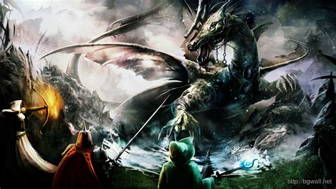 wallpaper anime 1600 x 900 trine dragon battle hd games wallpapers widescreen 1600