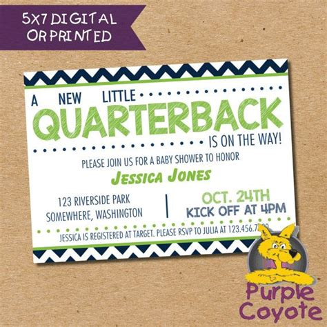 Football Themed Baby Shower Invitations by Best 25 Football Baby Shower Ideas On
