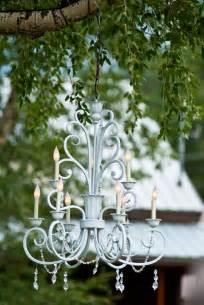 outdoor wedding chandelier handmade rustic garden decor photograph inspiration from b