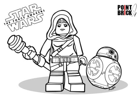 lego bb 8 coloring page disegni da colorare lego star wars the force awakens rey