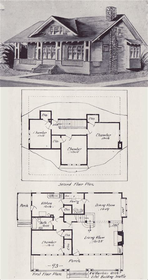 antique house floor plans 1908 vintage house plan western home builder bungalows