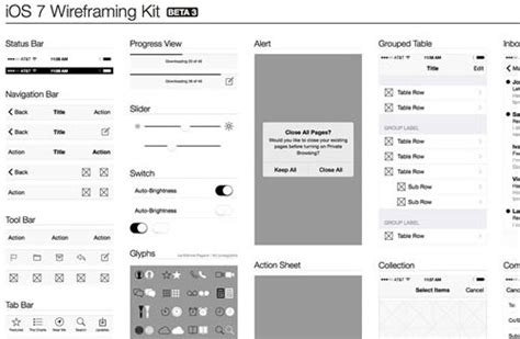ios wireframe template 20 free ios 7 user interface kits and templates
