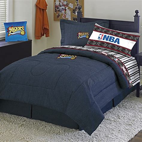 nba comforter sets nba philadelphia 76ers queen comforter set bed bath beyond